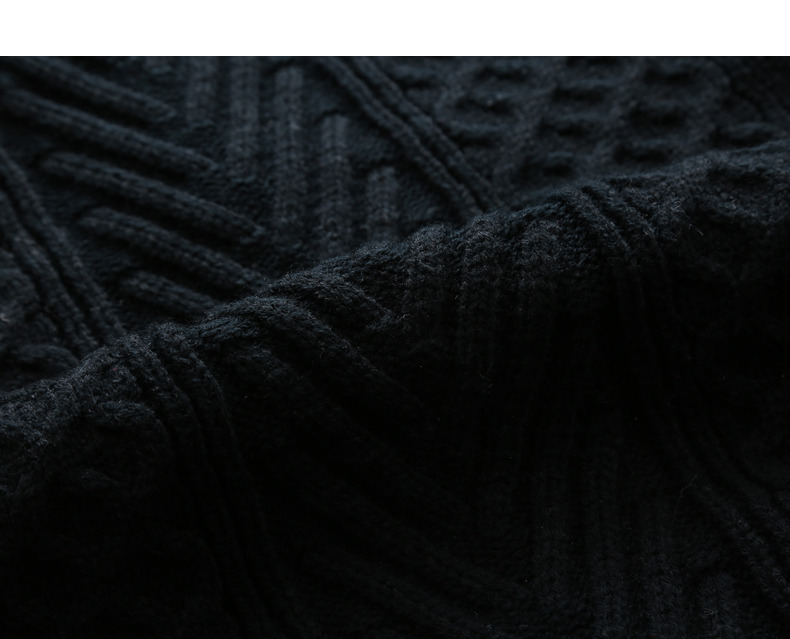 Winter Men Cardigan Coat Thicken Loose Fit Warm Turtleneck Sweater Men Autumn Knited Male Sweatercoat Black Brand Muls M-4XL-14