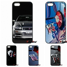 For iPhone 4 4S 5 5C SE 6 6S 7 Plus Galaxy J5 J3 A5 A3 2016 S5 S7 S6 Edge JDM Car NISSAN GTR Metal Logo Hard Cell Phone Case