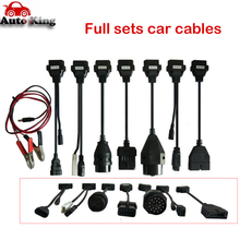 8pcs Car Cables Set for VD tcs CDP pro multidiag pro+ mvdiag wow snooper all serial for Cars OBD2 Connector with Free Shipping(China)