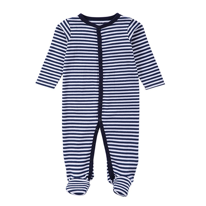 Baby Boys Girls Long Sleeve Rompers 2016 Autumn and Winter Newborn Boys Striped Jumpsuit Infant Baby Clothing Retail (1)