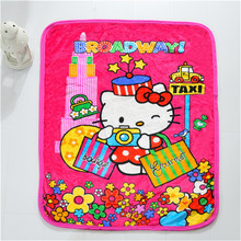 Baby blanket /children girl's cartoon flannel blankets /hello kitty cartoon characters plaid  blankets