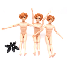 30cm 14 Man Naked Body Moveable Jointed Dolls Boyfriend Ken Male Prince Nude Doll Toy For Girls DIY Learning Toys For Children(China)
