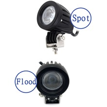 10W 1000LM Round with Cree LED Chips Work Light For 4x4 Boat Off Road Spot Flood Motorcycle Bicycle Truck Fog Driving Lamp D15