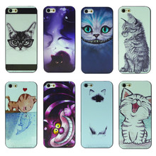 8 Designs 1pcs Cat Dog Animal PC Hard Cover Housing for Apple iPhone 5 5s SE Phone Case Factory Price Wholesale
