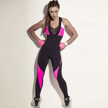 YD 2017 One Piece Women Yoga Set Sexy Sport Suit Fitness Tights Compression Yoga Clothing Leggings Workout Tracksuit Set