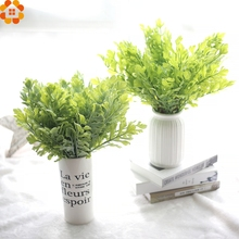 2016New!Grass Leaves Plastic Artificial Grass Leaf Plant DIY Home&Garden Wedding Party Decoration Craft Art Home Bedroom Decor