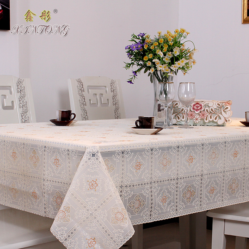 Charming Grey Plastic Tablecloth