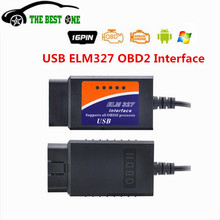 Top Quality ELM327 USB V1.5 ELM 327 V1.5 Support All OBD2 OBDII Protocols Diagnostic Tool ELM327 USB Interface Multi-Languages