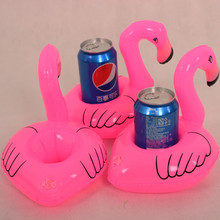 12 Pcs Inflatable Water Float Drink Holder Inflated Mini Flamingo Shaped Toy Swimming Pool Party Favors Hot Toy Cellphone Holder