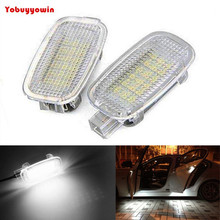 Canbus Xenon White LED Door Foot Area Vanity Trunk Lights For MercedesBenz(China)