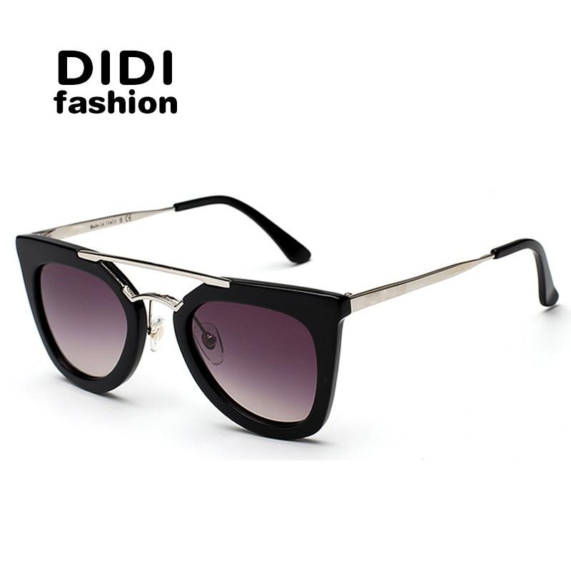 DIDI Retro Oversize Cat Eye Sunglasses Women Brand Designer  Vintage TR90 Black+Gold Relogio Feminino Goggle Oculos De Sol H098<br><br>Aliexpress