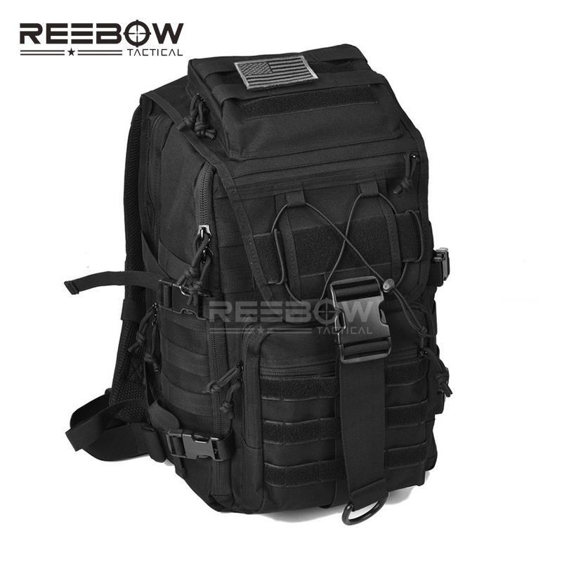 REEBOW TACTICAL Military 3 Day Assault Backpack Molle Army Bug Out Pack Bag for 14 15 15.6 Laptops Daypack  Rucksack<br>
