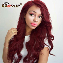 Burgundy Body Wave Brazilian Hair Weave Bunldes 99j Red Color Human Hair Bundles Gossip Hair Extensions Non Remy 1 Piece Only(China)