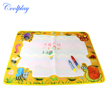 1 Pcs Coloring Doodle Painting Mat with 2 Drawing Pen The Insect Themed Kids Educational Developmental Drawing Toys 74x49cm(China)