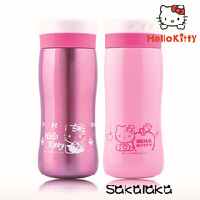 350ml 100% brand Hello Kitty girl 304 Stainless steel leakproof pink vacuum insulation Cup