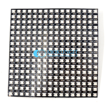 Wholesale DC5V 16*16 Pixel 256 Pixels WS2812B Digital Flexible LED Programmed Panel Screen Individually Addressable Full Color(China)