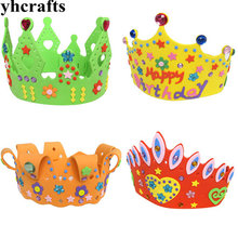 1PC/LOT.4 design choose,DIY foam diamond crown craft kits Model building kits Early educational toys Develop the right brain OEM(China)