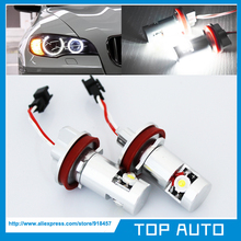 Pair No Error LED Angel Eye Halo Light for H8 07-11 BMW E92 coupe 328i 335i M3 E93 E89 Z4(China)