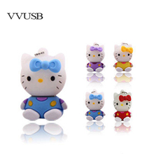 pendrive caroon lovely hello kitty usb flash drive 4gb 8GB u disk 16GB 32G usb flash hang decorations memory stick pen drive