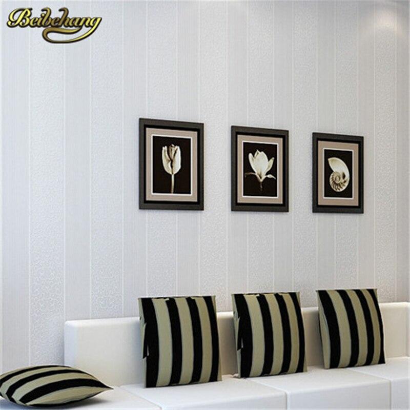 beibehang papel de parede. Stripe Modern Textured Wallpaper bedroom textured wall paper modern bedroom roll: Beige,white,grey<br>