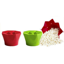 New DIY Silicone Popcorn Maker Magic Bowl Foldable Pop Corn Microwave Safe Easy Operate Heat Resistant Kitchen Baking Tools