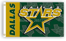 NHLTeam Dallas Stars logo lwordmark Flag 3x5FT banner150X90CM 100D  Polyester  brass grommets custom flag, Free Shipping