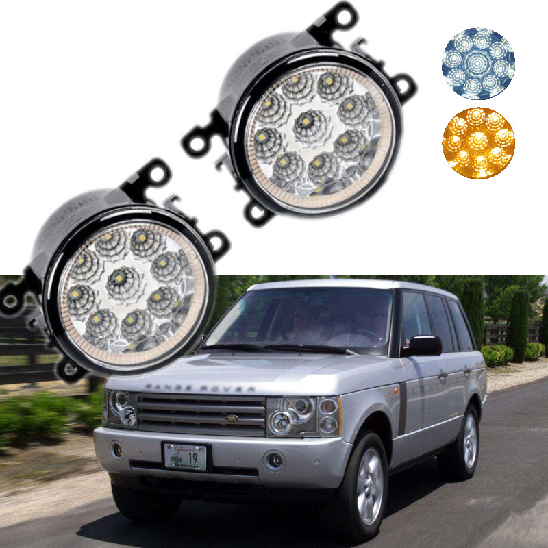 Car Styling For Land Rover Range Rover LM_ 05-12 9-Pieces Leds Chips LED Fog Light Lamp H11 H8 12V 55W Halogen DRL Fog Lights<br>
