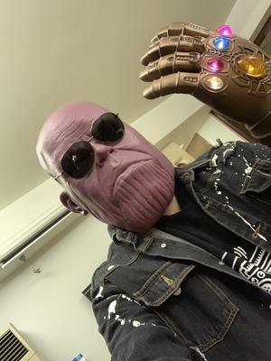Thanos Cosplay Mask & Gauntlet Take Control of Your Infinity Saga Universe 22