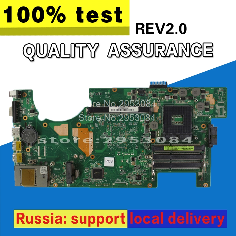 Hot selling For ASUS G73JH G73J G73 Motherboard 60-NY8MB1200 Main Board HM55 4 slots PGA989 USB2.0 REV:2.0 100% fully tested