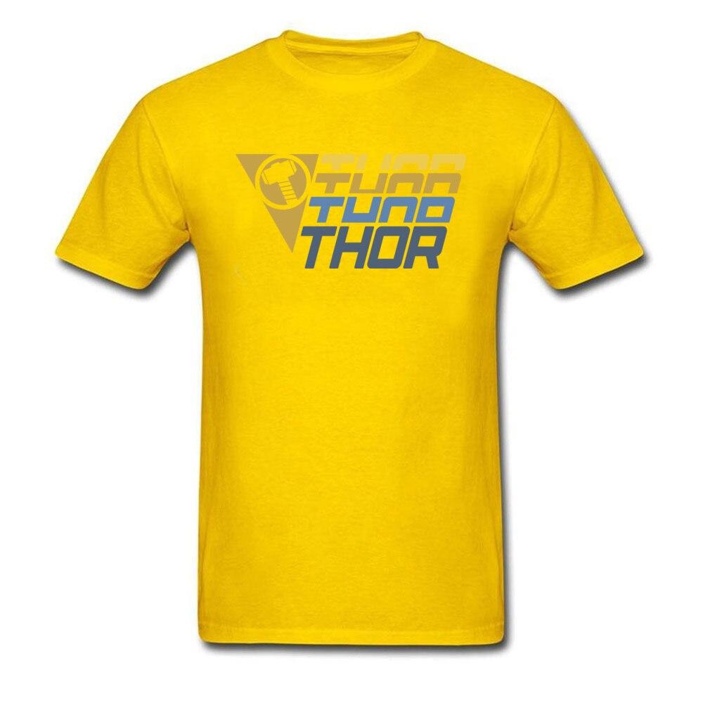 Star Wars Thor Logo Cotton Men Short Sleeve Tops & Tees Funny NEW YEAR DAY T Shirts Geek Tshirts Designer O Neck Thor Logo yellow