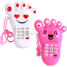 2pieces/lot Kid Toy Cellphone Mobile Phone with Sound and Light Baby Mobile Early Educational Learning Toy Pink Electronic Phone