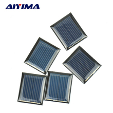 10Pcs Mini Solar Panels 1V 80mA 30*25MM Solar Cells For DIY Scientific Experiment