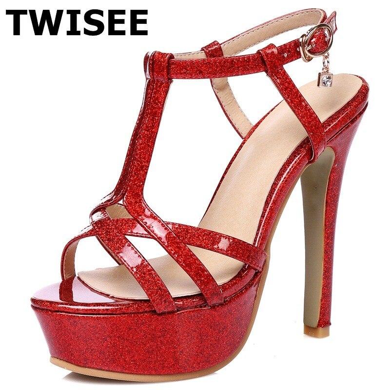 platform sandals Super High 13 cm high Comfortable Thin Heels woman party shoes summer sandals ladies women shoes sandals<br>