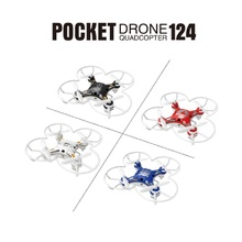 New Hot Sale FQ777-124 Pocket Drone 4CH 6Axis Gyro Quadcopter With Switchable Controller RTF Remote Control Helicopter Toys(China)