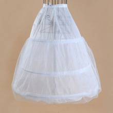 High Quality Rtp 3 Hoops Petticoats White for Long Wedding Dresses Accessori Sposa New Arrival