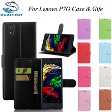 OUZIFISH High quality flip leather cover lenovo p70 Wallet Style case for Lenovo p 70 cell phone case Wholesale retail