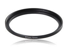 67-72mm Metal Camera Lens Filter Adapter Ring Thread Male 67mm to Female 72mm Step Up Mount UV CPL ND Star Filter