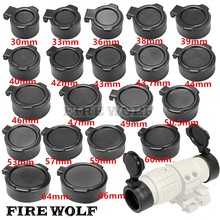 FIRE WOLF Rifle Scope Cover Quick Flip Spring Up Open Lens Cover Cap Eye Protect Objective Cap for Caliber 20 Sizes(China)