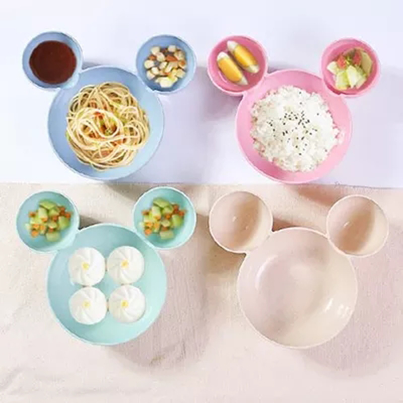 Baby Bamboo Food Storage Cute Minnie Mouse Children Feeding Bowl Eco-friendly Kids Plate Fruit Dinner Food Tableware Dish BB5078 (3)