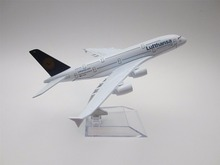 16cm Metal Alloy Plane Model German Air Lufthansa A380 Airways Airbus 380 Airlines Airplane Model w Stand Aircraft Gift(China)