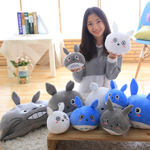 New Design Plush Pea Totoro Pillow Cushion Toys Little Circular Plush Totoro Dolls Gift for Kids Girlfriend