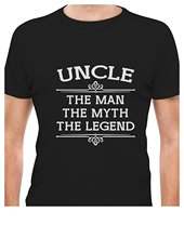 Cheap Graphic T Shirts Uncle The Man The Myth The Legend Best Gift Idea For Uncle Crew Neck Men Short Sleeve Tall T Shirt(China)
