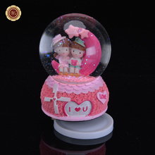 WR I Love You Music Box Crystal Ball Snow Glass Ball  Musical Box Xmas Present Ideas Creative Valentine's Day Birthday Gifts