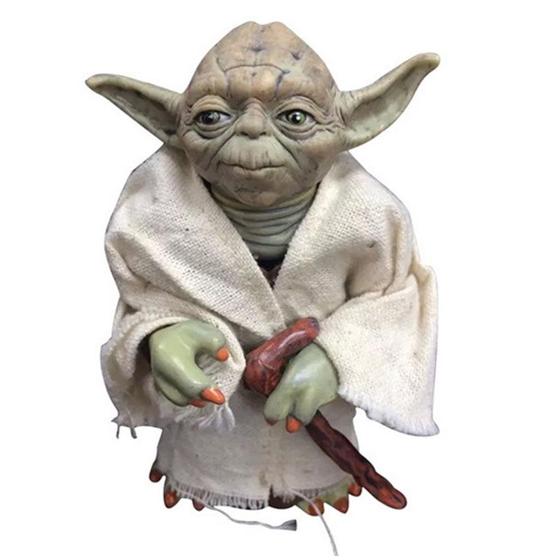12cm Star Wars Black Series Yoda figure toy 2016 New star wars force awakens Jedi Master Yoda minifigure party supply decoration<br><br>Aliexpress