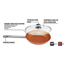 10 inch Induction bottom, ceramic coating,copper pan,(China)