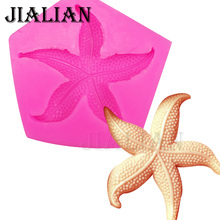 New design Starfish soap mould chocolate cake decorating tools DIY sea star fondant silicone mold baking tools for cakes T0412(China)