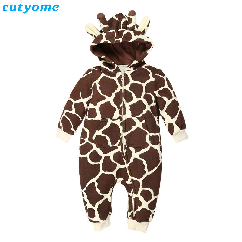 Cutyome Newborn Baby Rompers Boys Girls Warm Parkas Coat Infatil Hooded Long Sleeve Thick Down Jumpsuits Kids Winter Clothes<br>