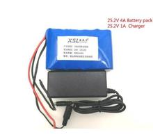 New 24V 4Ah 6S2P 18650 Battery li-ion battery 25.2v 4000mah electric bicycle moped /electric/lithium ion battery pack+2A Charger