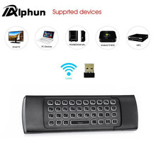Alphun MX3 Backlight 2.4G Wireless Keyboard Controller Remote Control Air Mouse for Smart Android TV Box mini PC HTPC Projector(China)