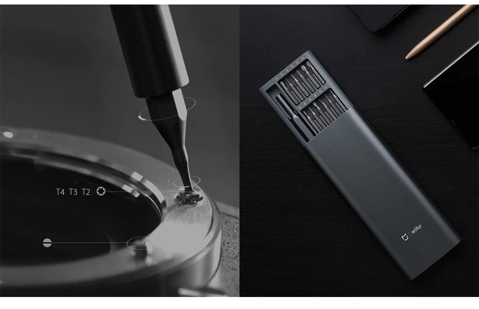 Original Xiaomi Mijia Wiha 24 in 1 Precision Screw Driver Kit 60HRC Magnetic Bits Xiaomi Home Kit Repair Tools Xiomi Xaomi (7)